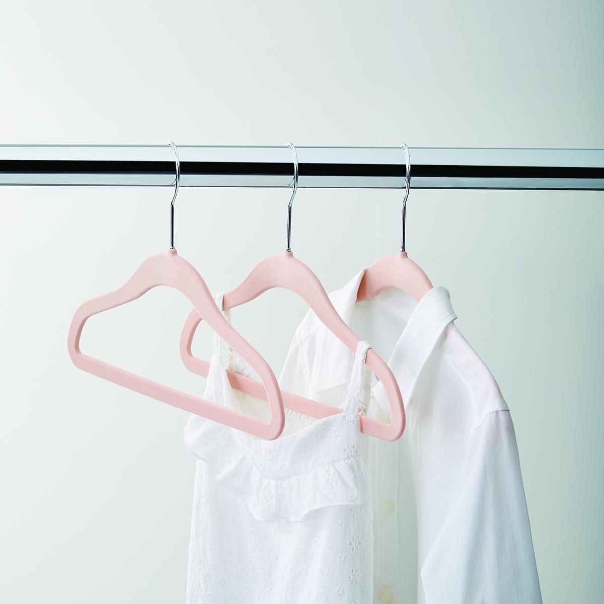 Kid's Blush Premium Non-Slip Velvet Hangers
