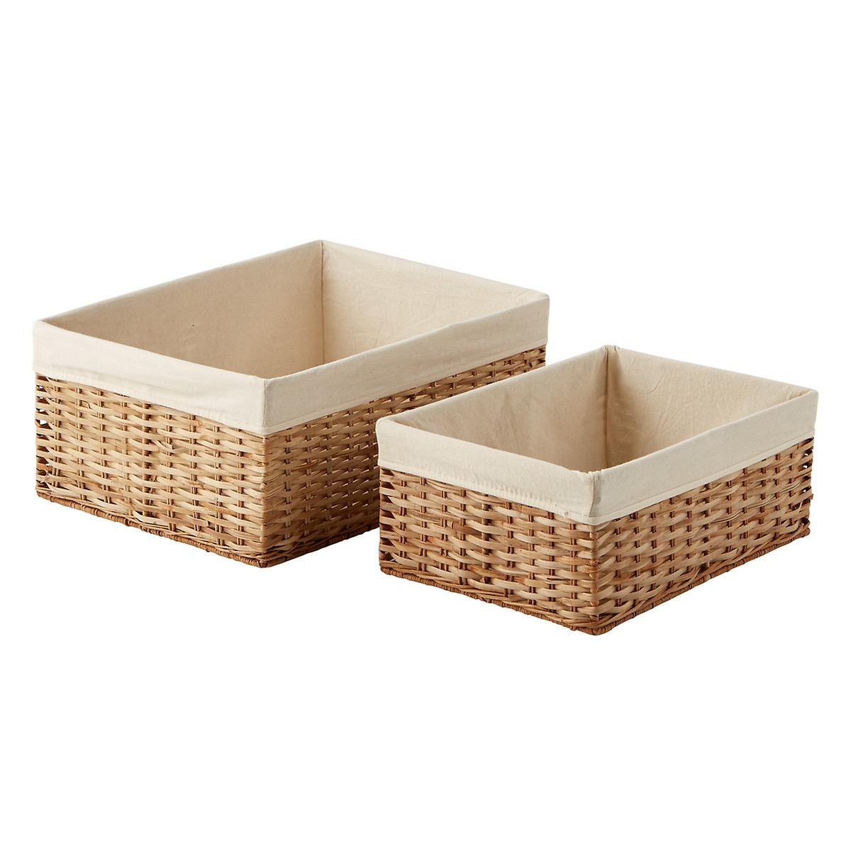 Natural Montauk Woven Rectangular Storage Bins