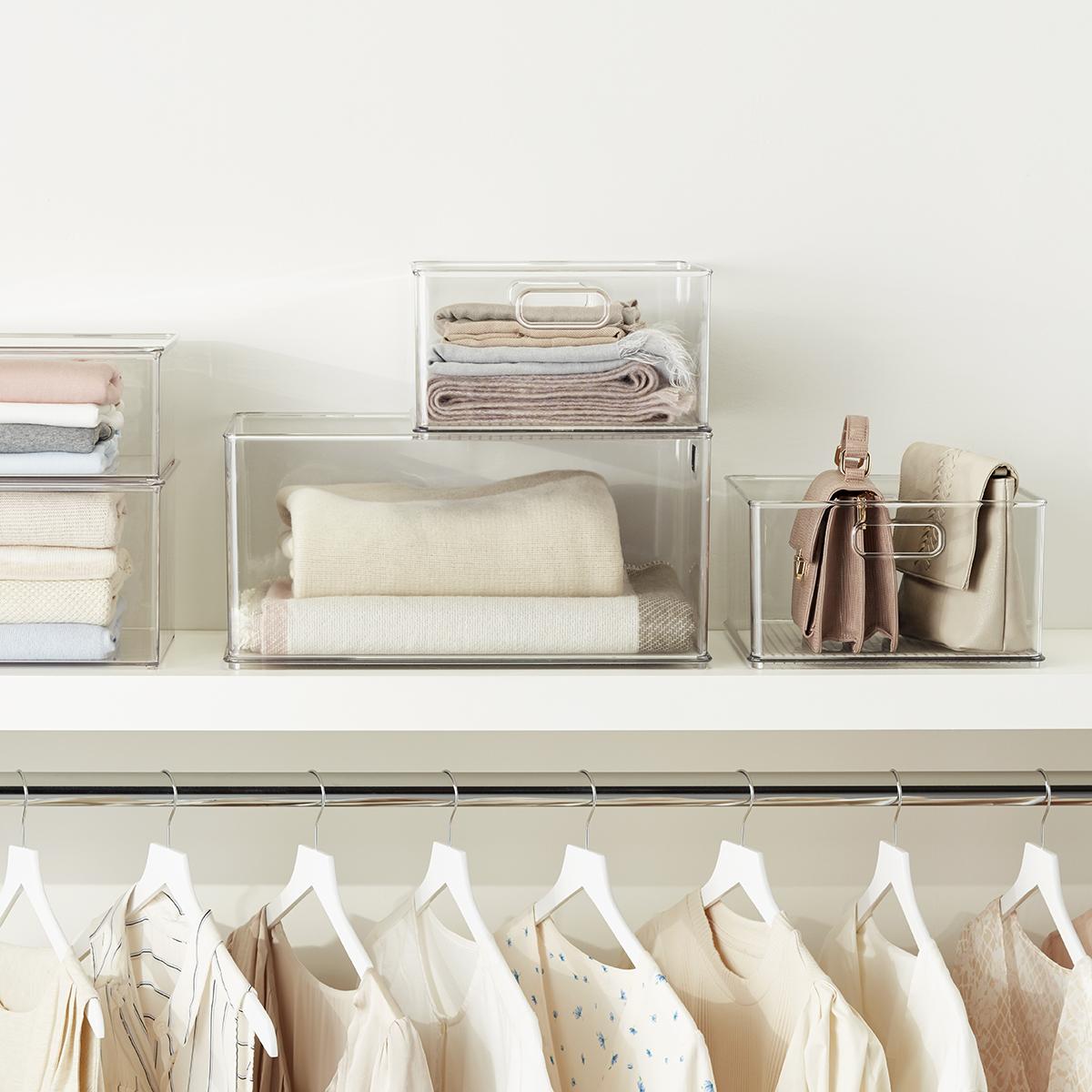 iDesign Clear Stackable Closet Bins