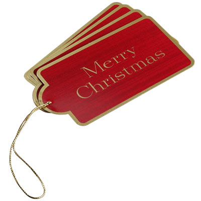 Red Merry Christmas Gift Tags