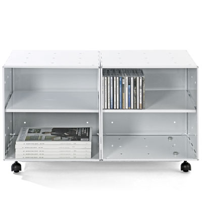 Enameled Steel Cube Storage Table