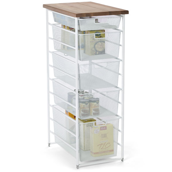 White Elfa Mesh Pantry Storage The Container Store