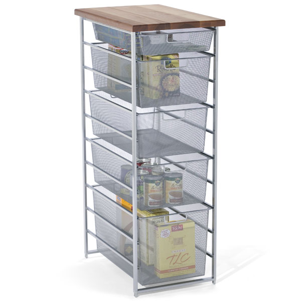 Platinum elfa mesh pantry storage the container store for Best pantry shelving system