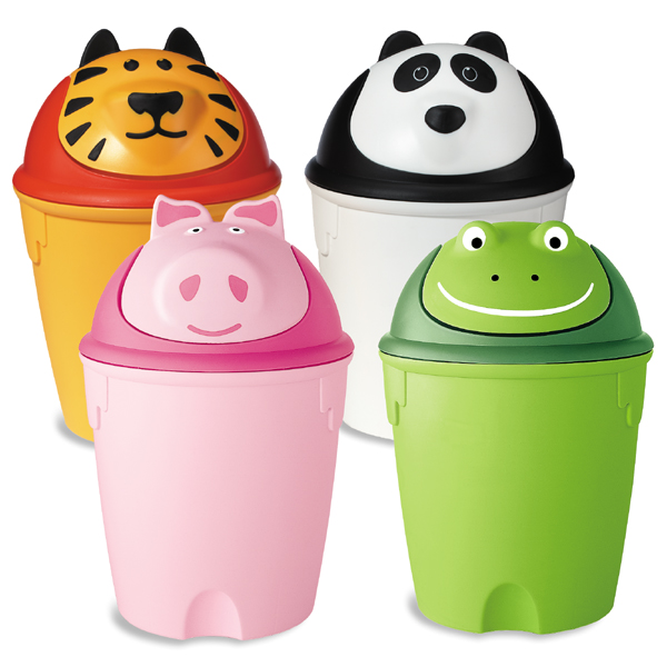 animal swing lid cans the container store. Black Bedroom Furniture Sets. Home Design Ideas