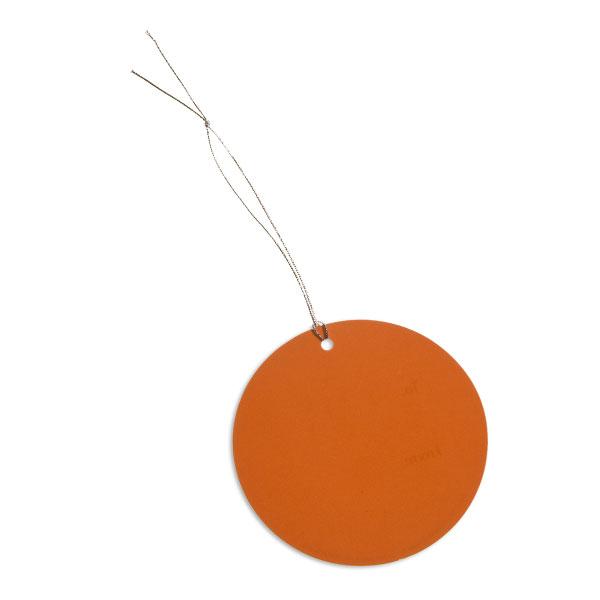 Round Gift Tags Orange Pkg/5