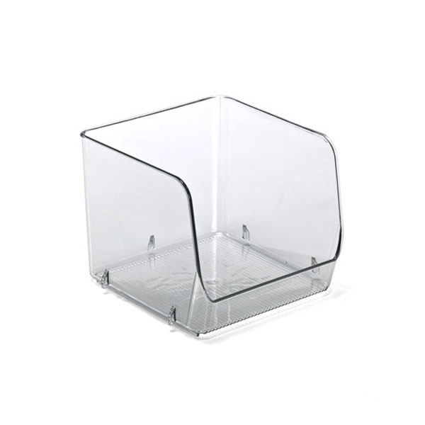 Linus Medium Open Stacking Bin Clear