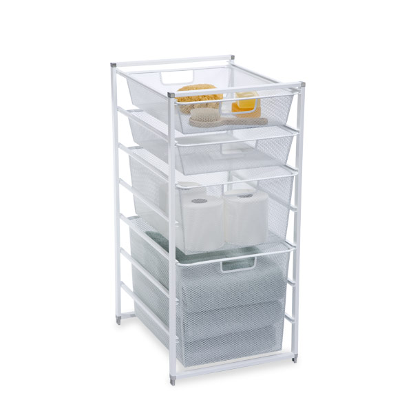 white elfa drawers the container store
