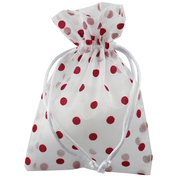 Flocked Dots Sheer Sack