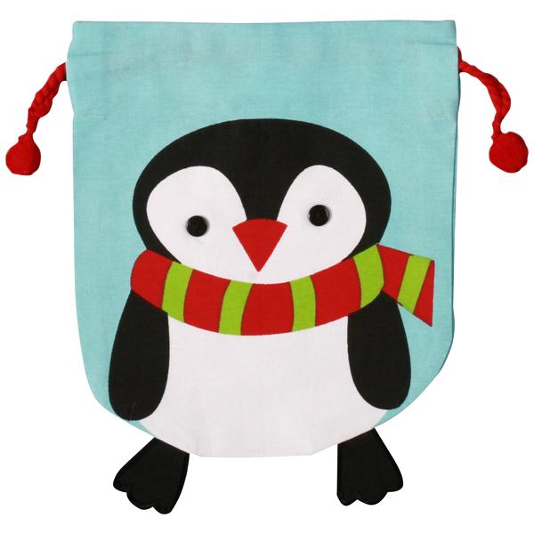 Cotton Sack Penguin w/Scarf