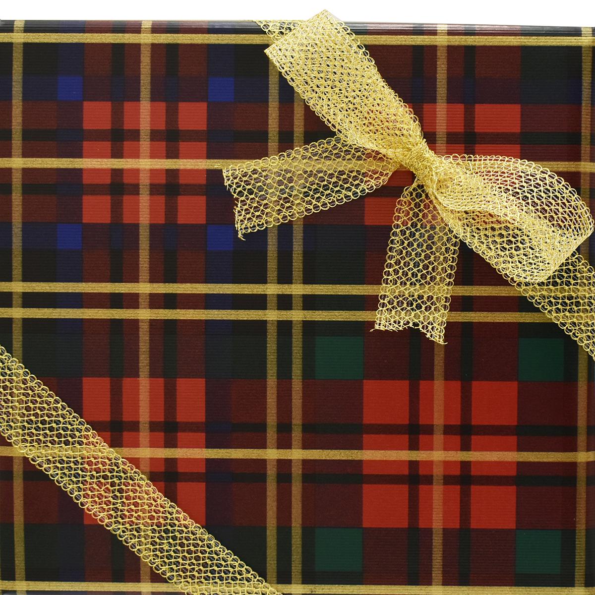 Wrap Jewel Tone Plaid