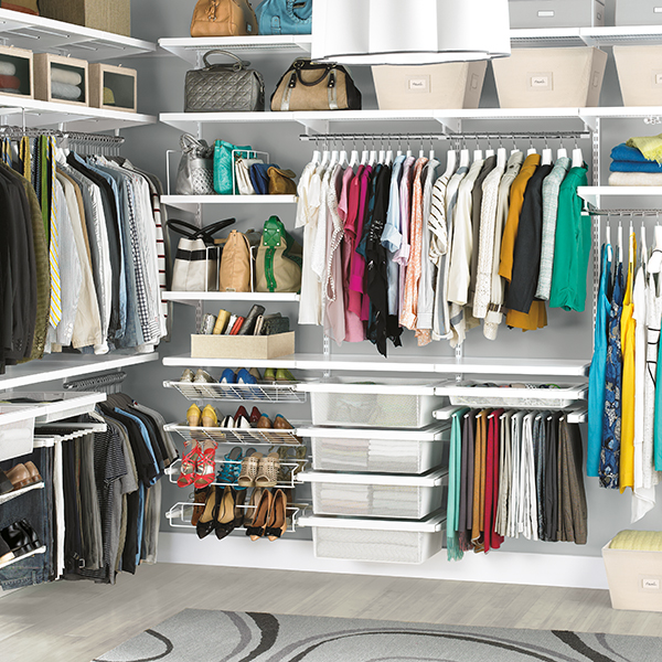 His & Hers Walk-In Closet