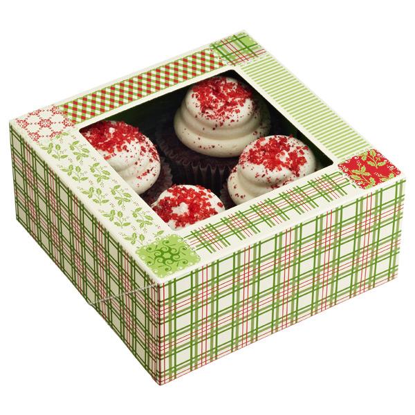 Christmas Plaid Treat Boxes
