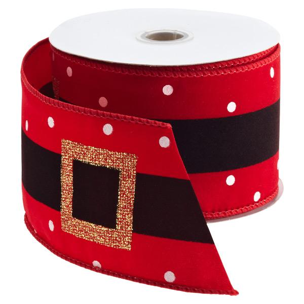 Ribbon Wired Santa's Belt