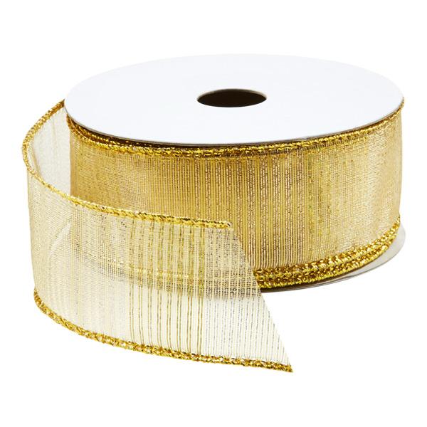 Ribbon Wired Gold Stripe