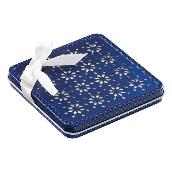 Gift Card Holder Snowflake Tin