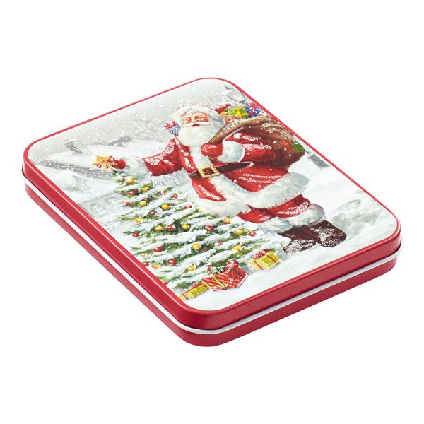 Gift Card Holder Tin Santa