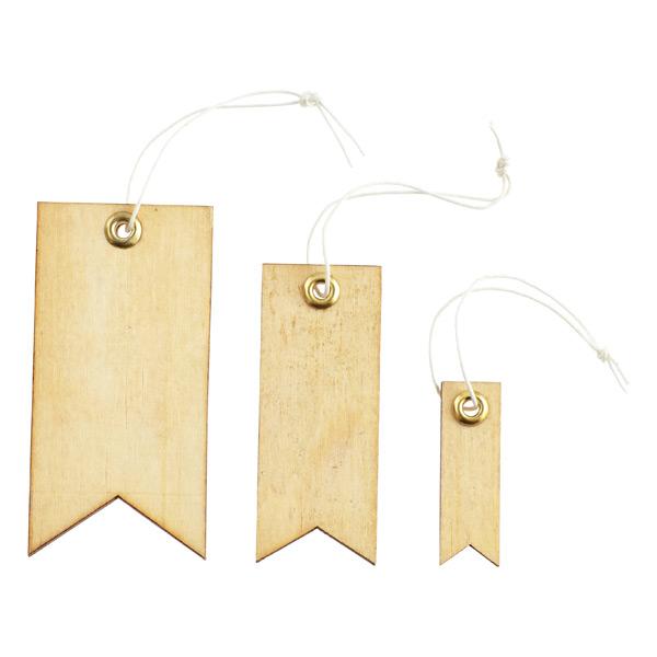 Natural Wood Tag Labels