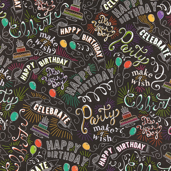 Happy Birthday Chalkboard Wrap