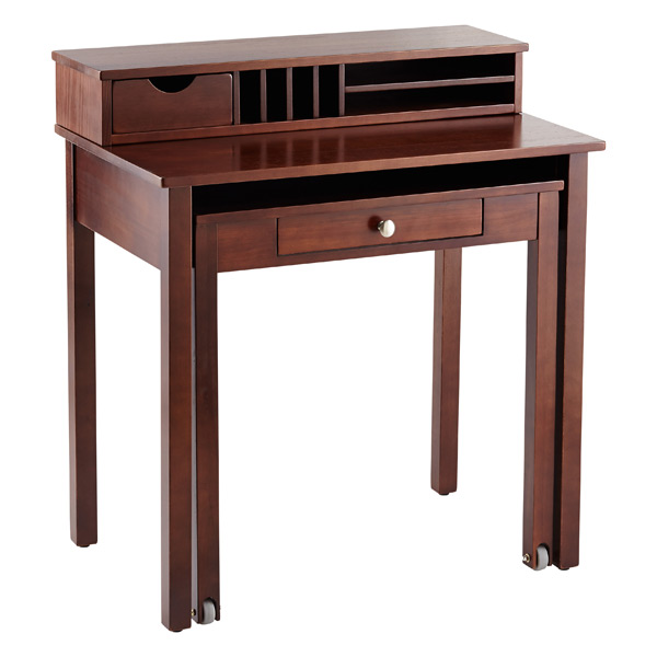 Solid Wood Roll-Out Desk
