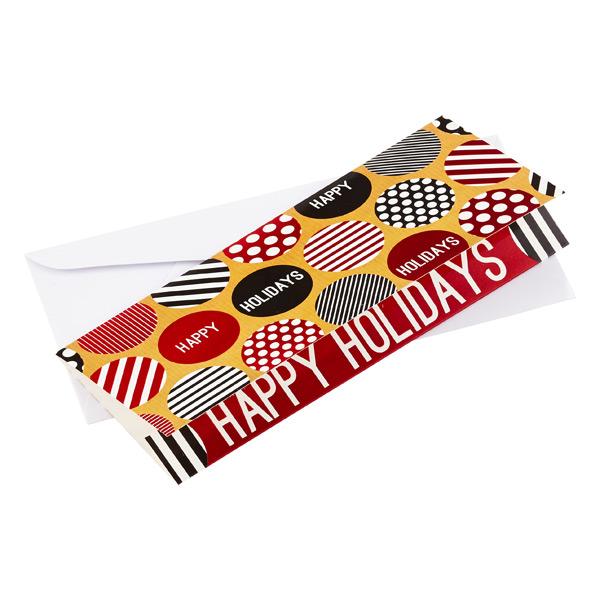 Money Holder Happy Holidays