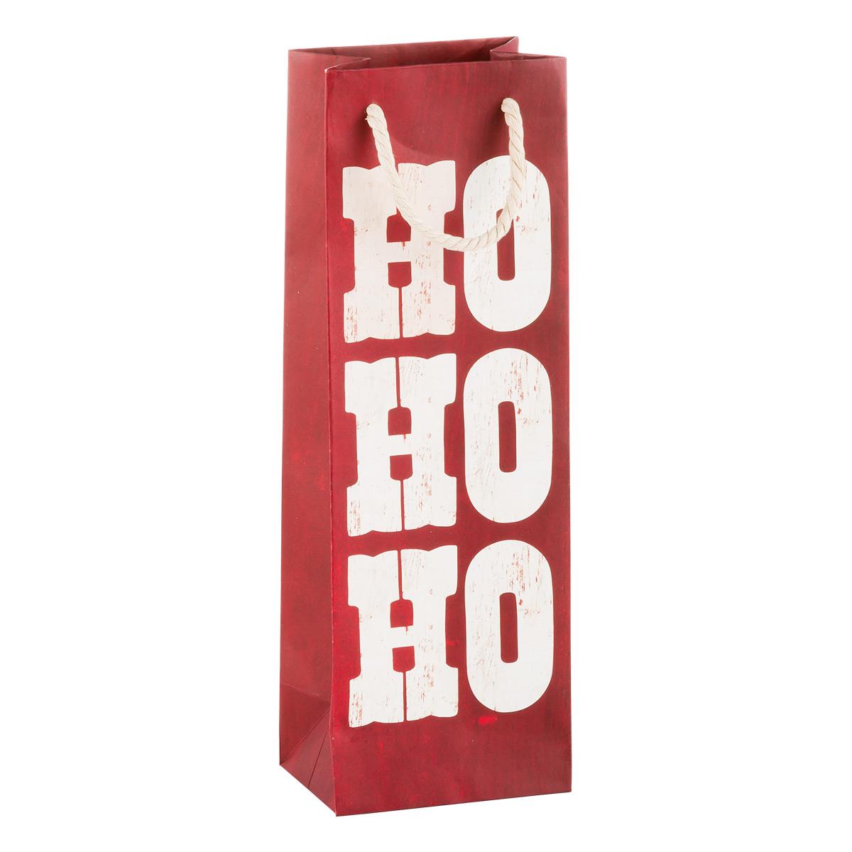 Tote Rustic Ho Ho Ho