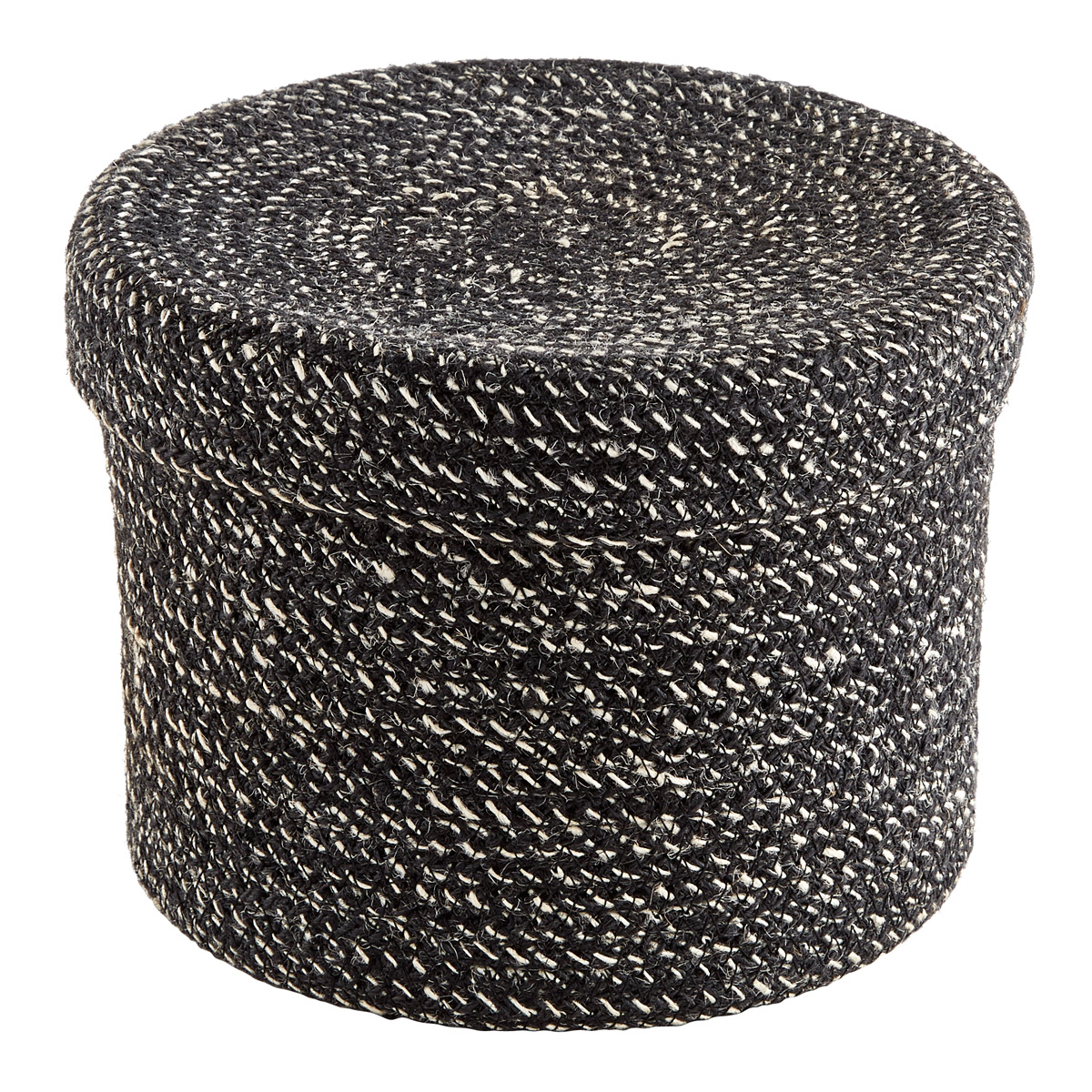Round Jute Box with Lid