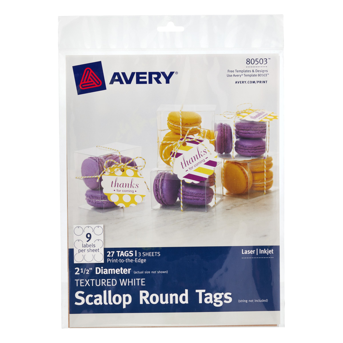 Avery^ Printable Scallop Tags