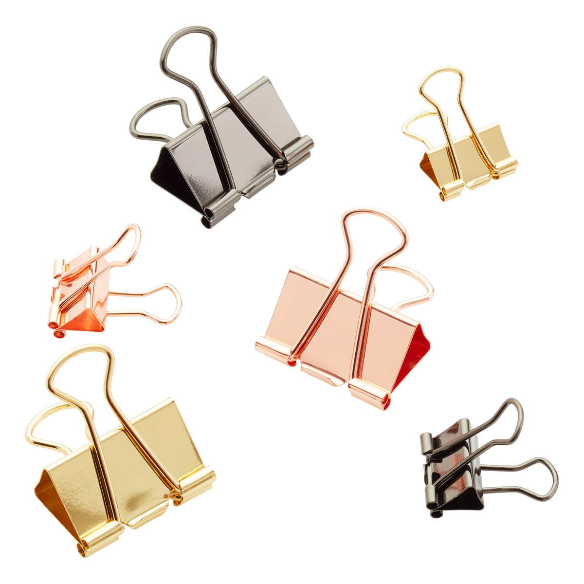 Metallic Binder Clips