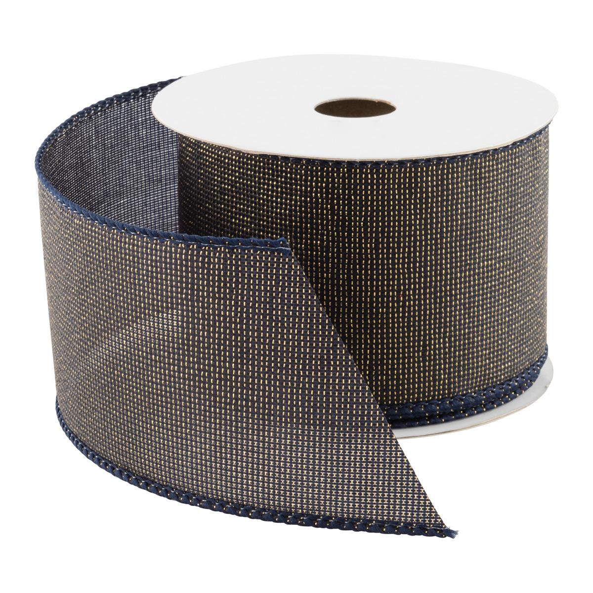 Metallic Woven Wired Ribbon