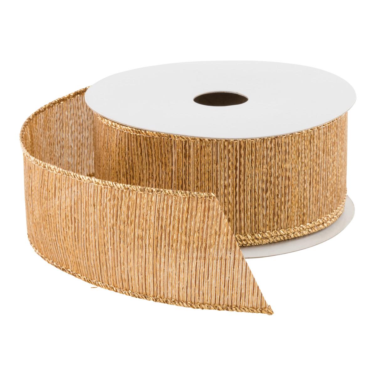 Ribbon Wired Woven Metallic