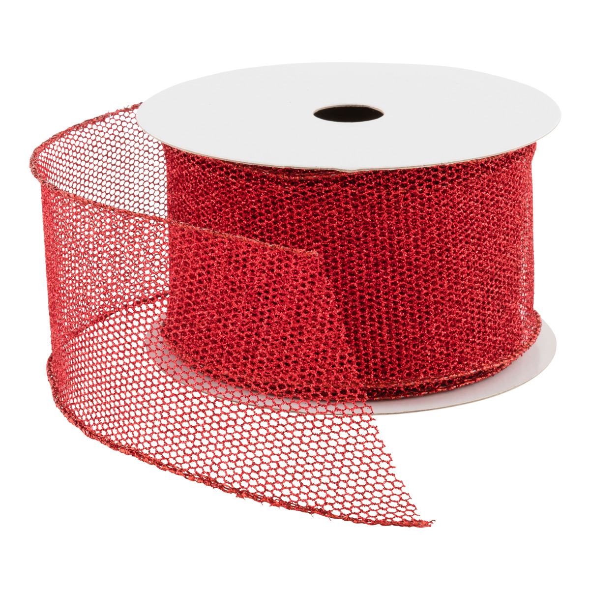Wired Glitter Mesh Ribbon