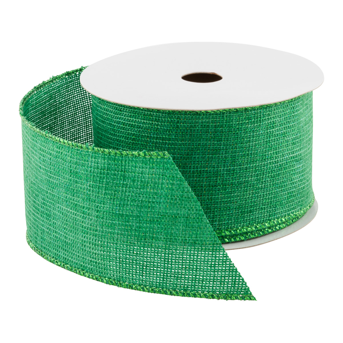 Green Woven Wired Ribbon