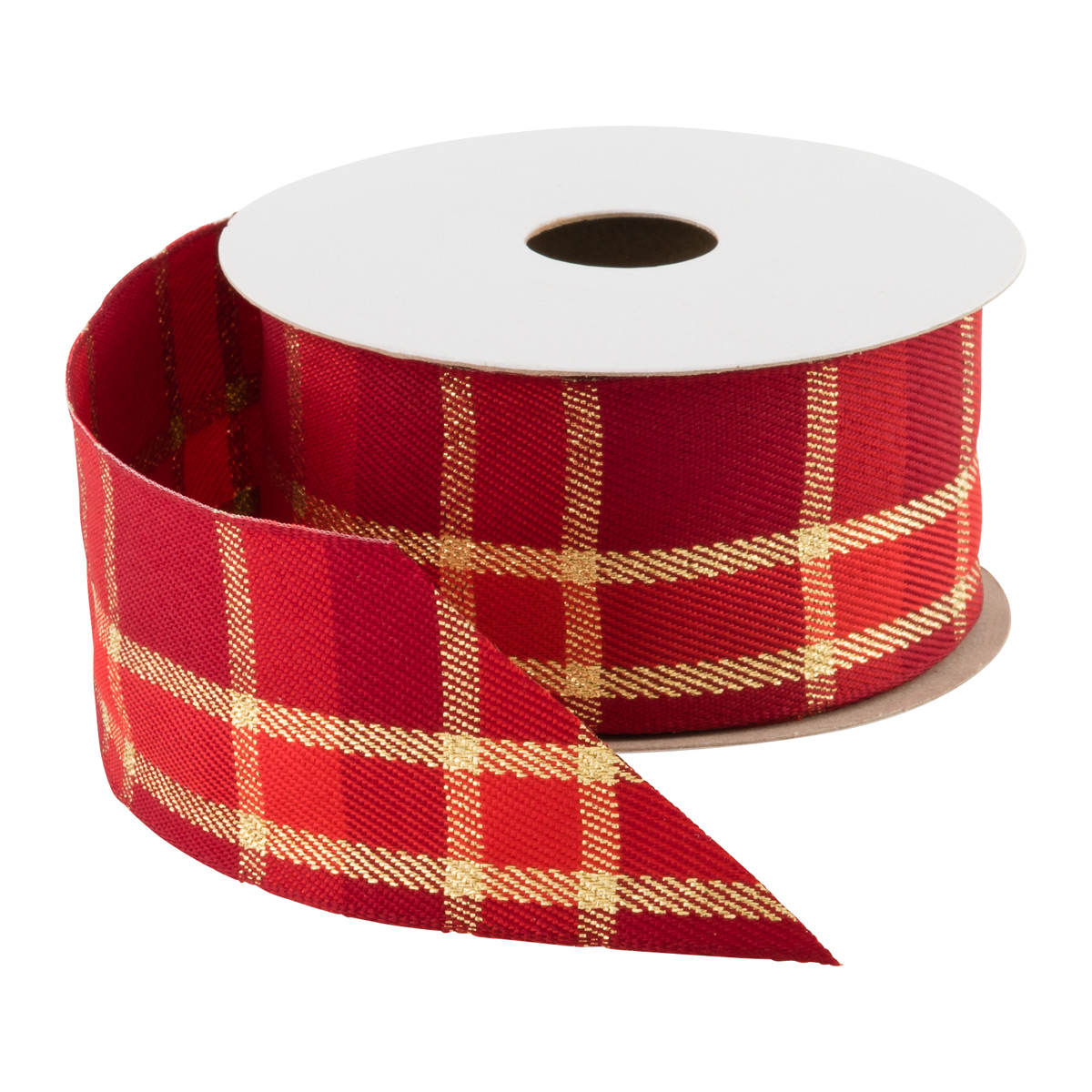 Wired Woven Ribbon Plaid