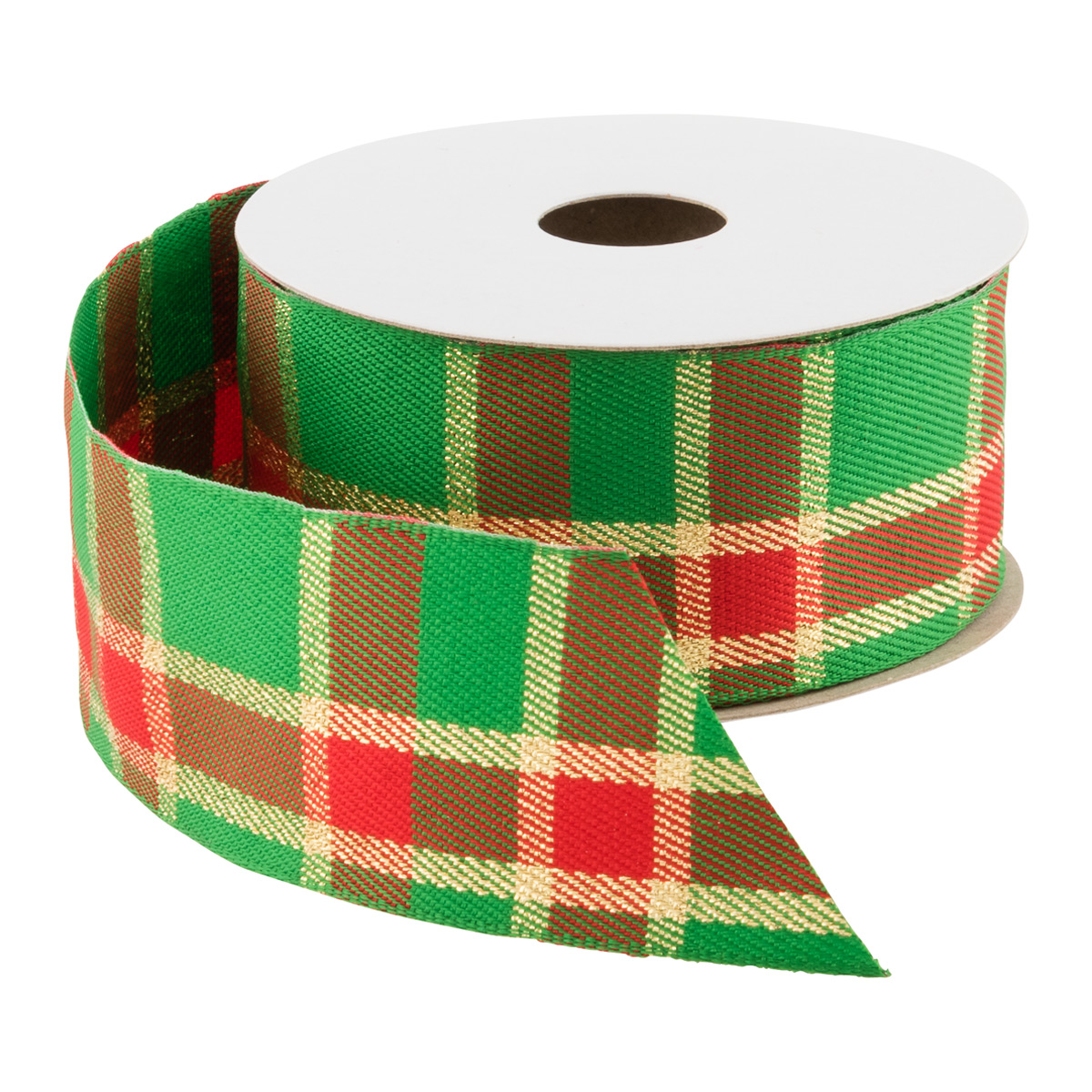 Wired Woven Plaid Ribbon