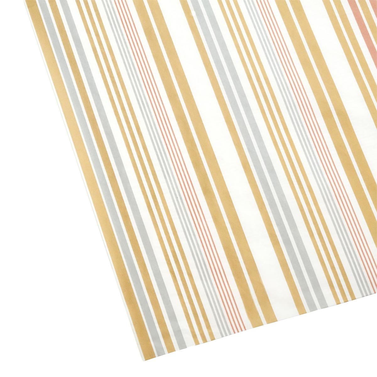 Tissue Sheet Stripes Metallic