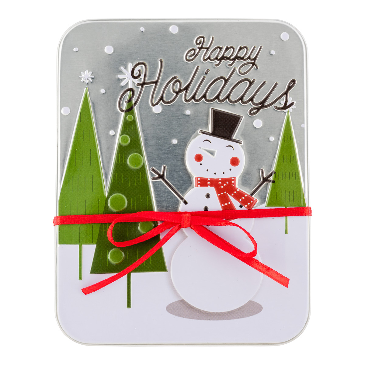 Gift Card Holder Happy Snowman