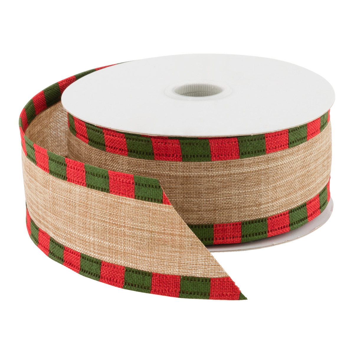 Ribbon Wired Linen Check Edge