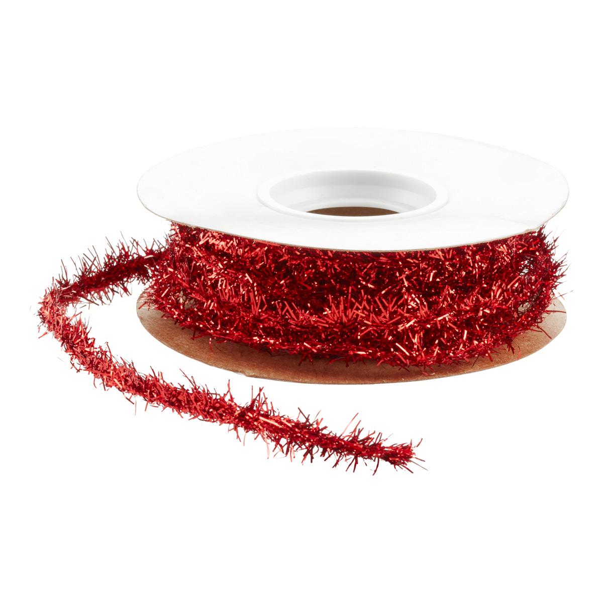 Ribbon Wired Tinsel Garland