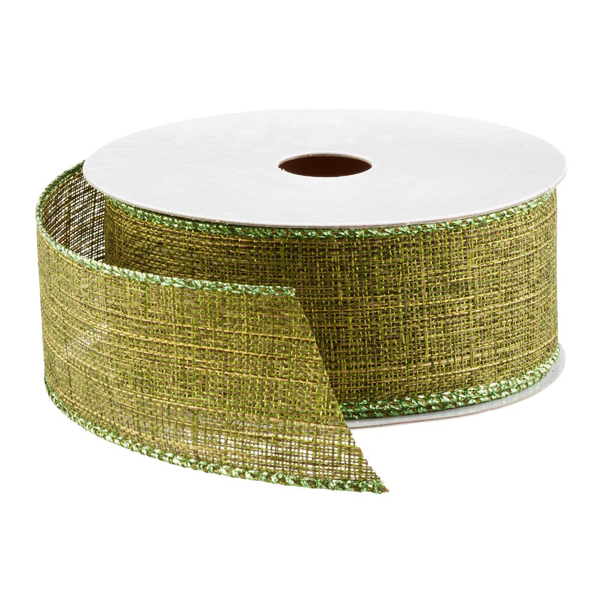Ribbon Wired Linen Metallic
