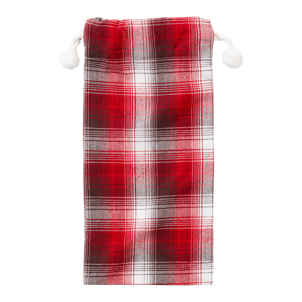 Bottle Cotton Sack Plaid