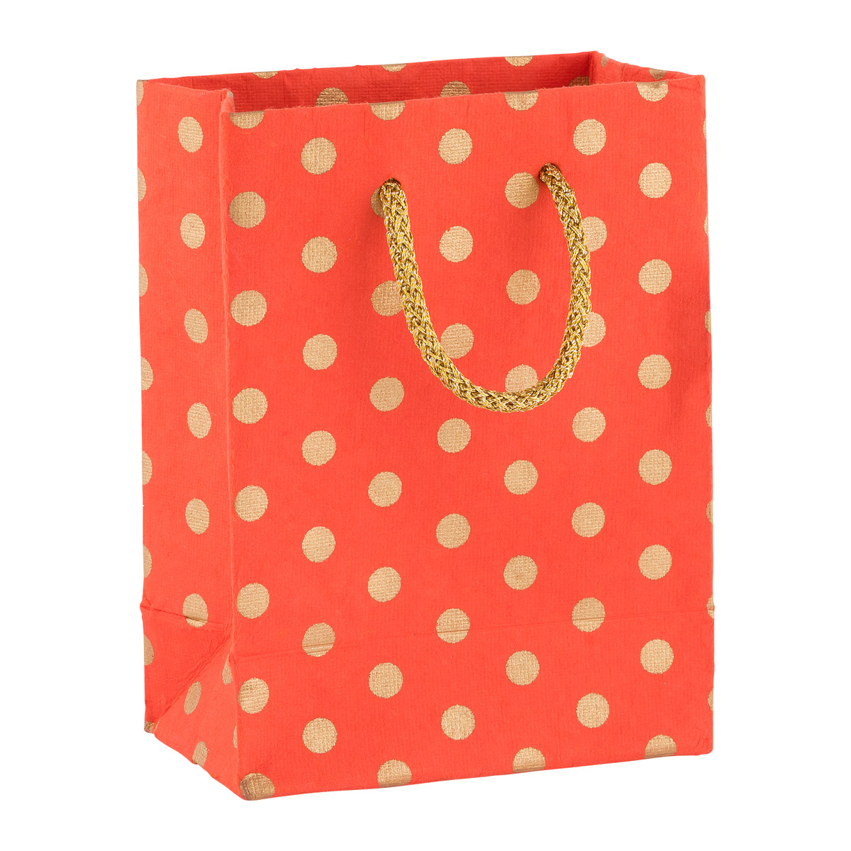 Recycled Small Tote Gold Dot