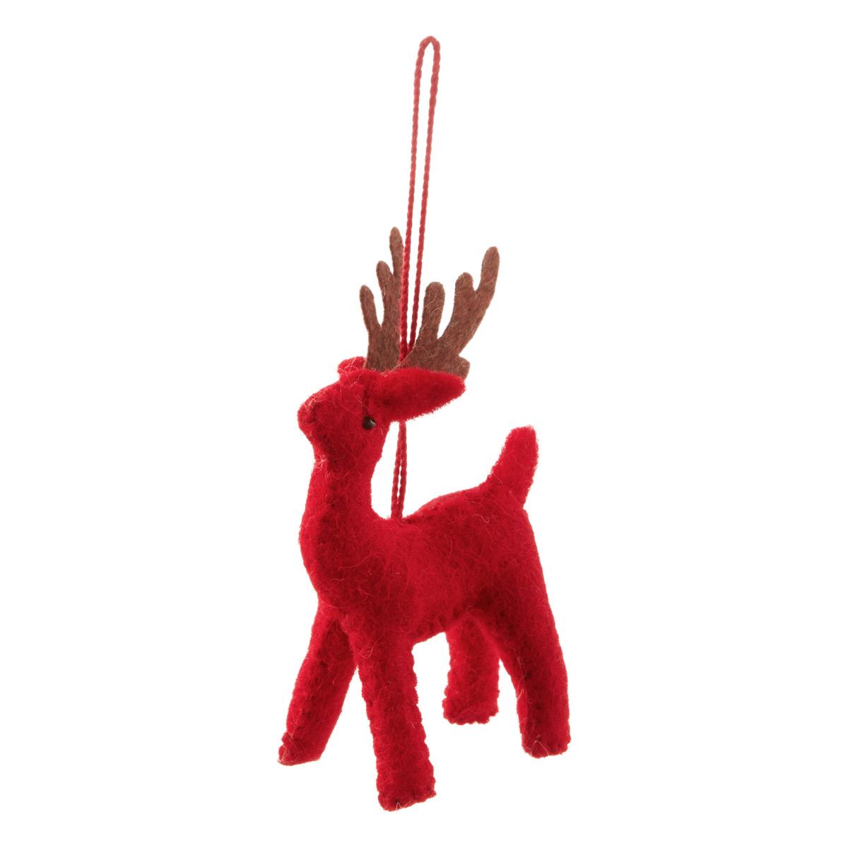 Tie-On Deer Red
