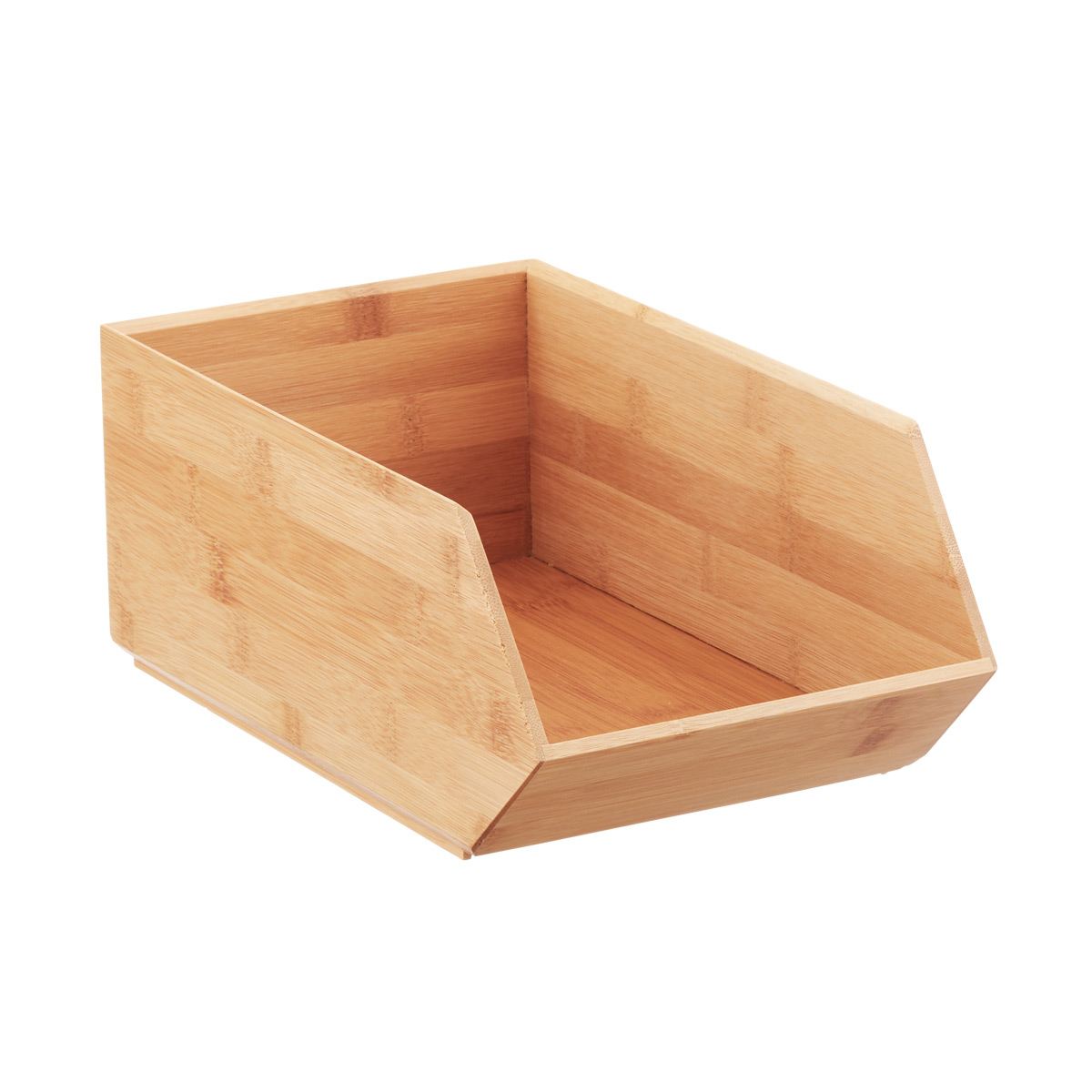 Stackable Bamboo Storage Bin