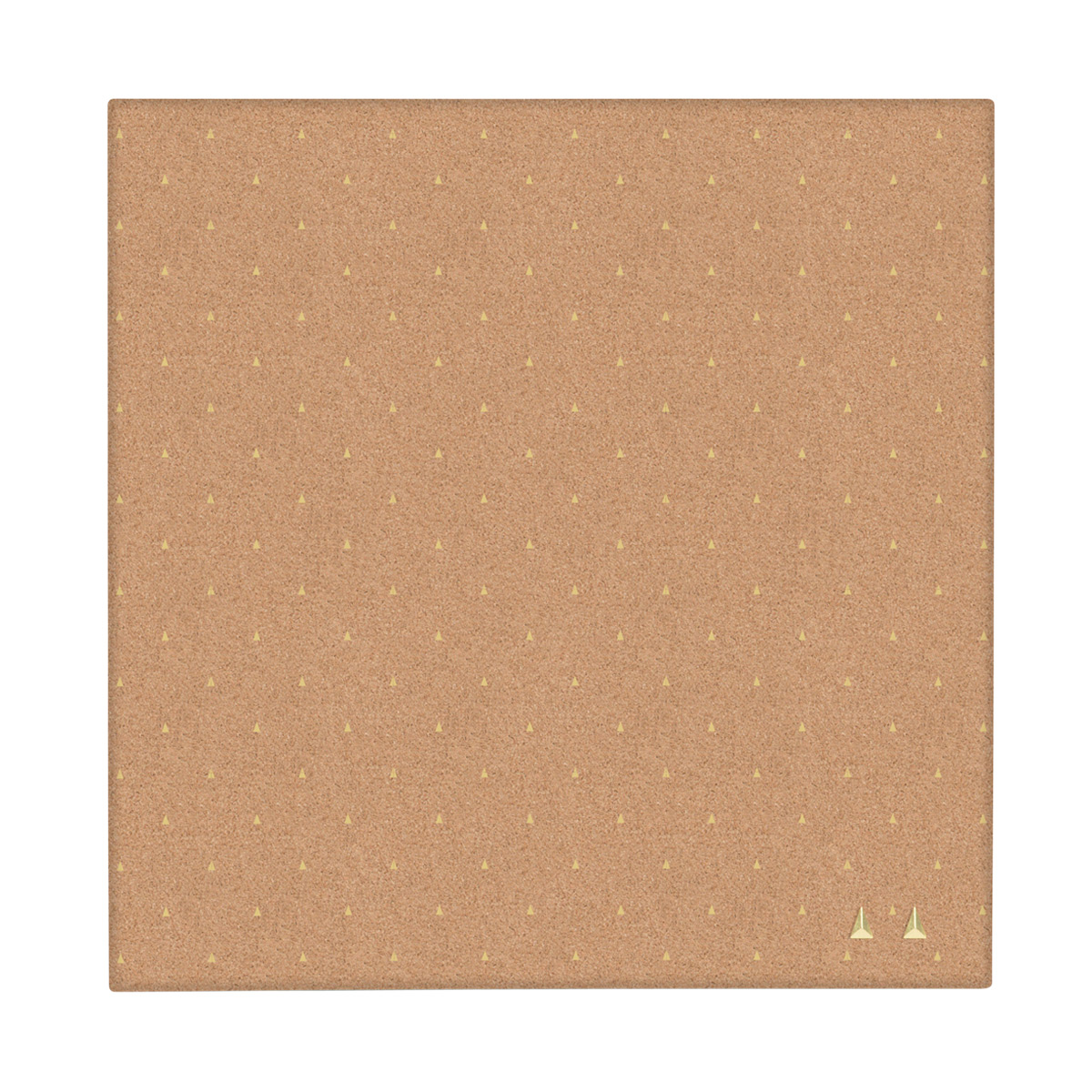 Cork Board with Gold Arrows