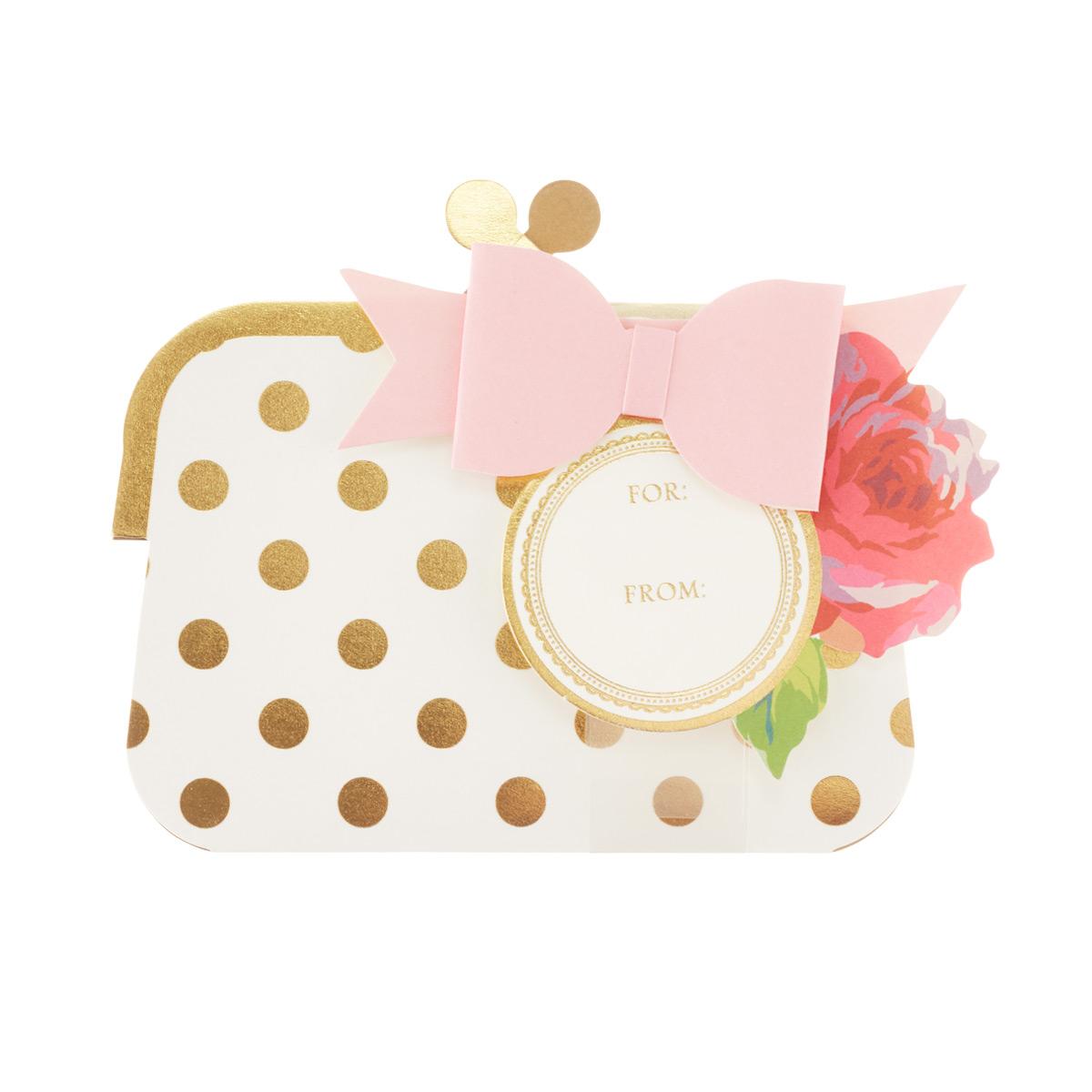 Gift Card Purse Rose &