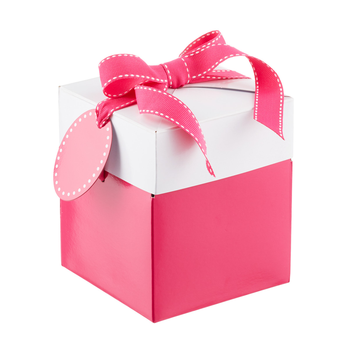 Large Pop-Up Gift Box Pink/Whi