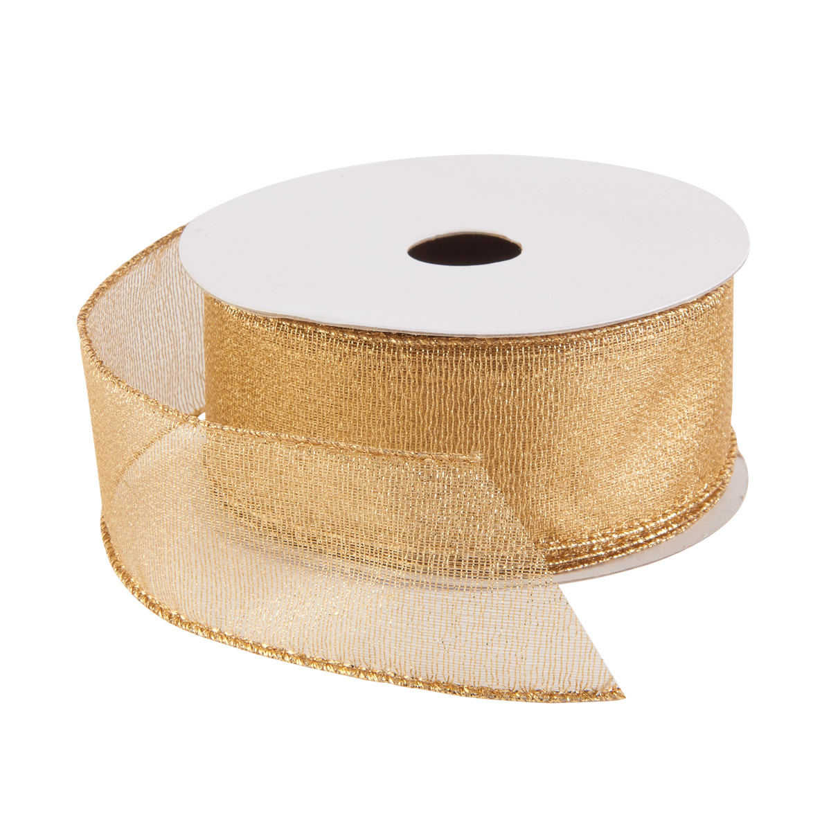 Ribbon Wired Gold Mesh