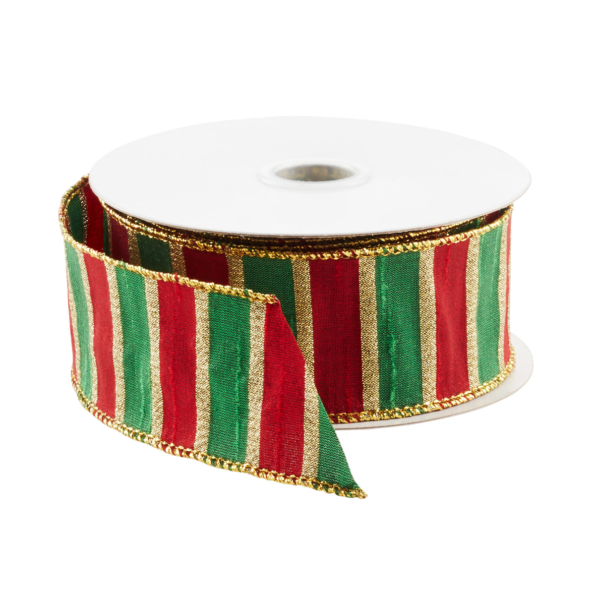 Ribbon Wired Stripe Red/Green