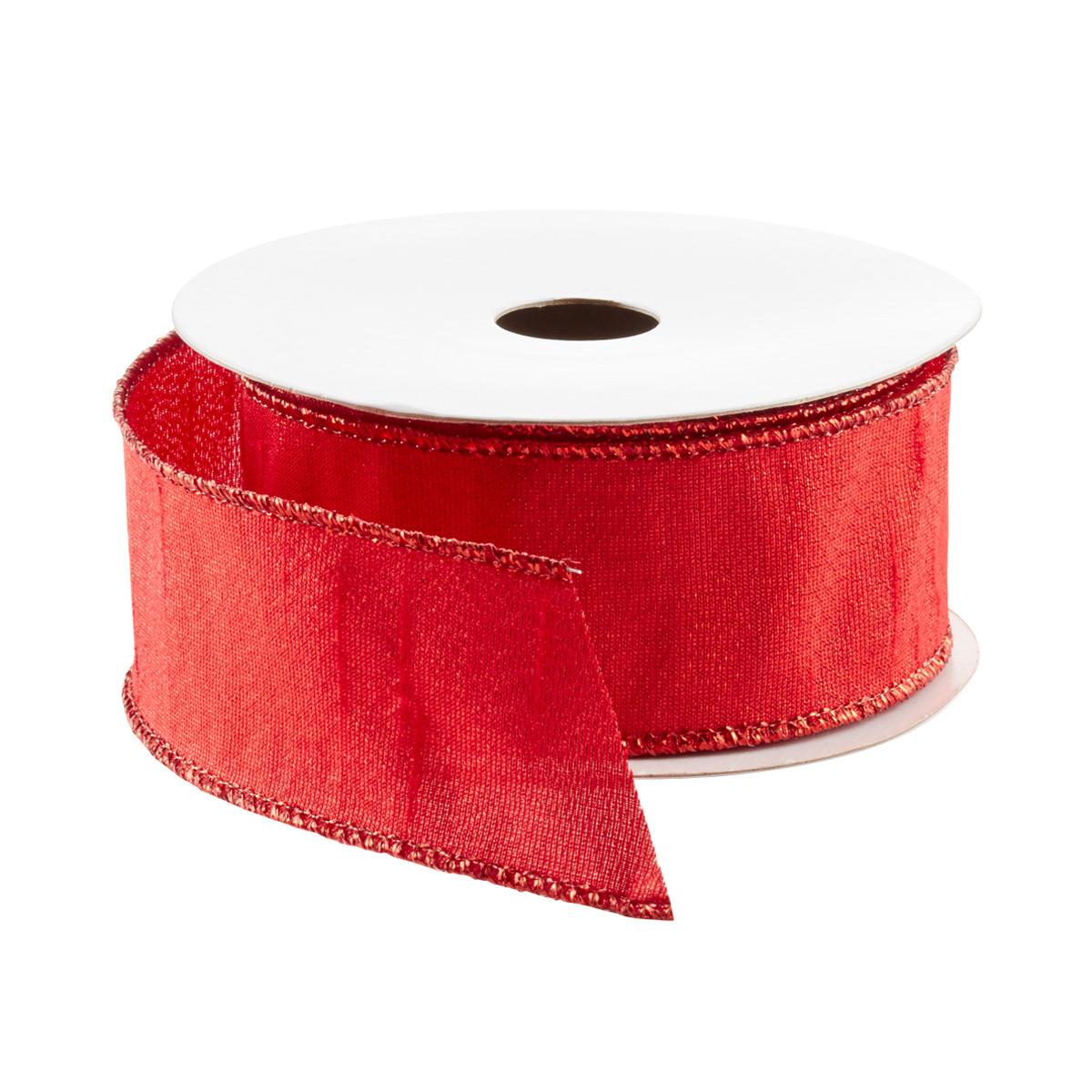 Ribbon Wired Metallic Red