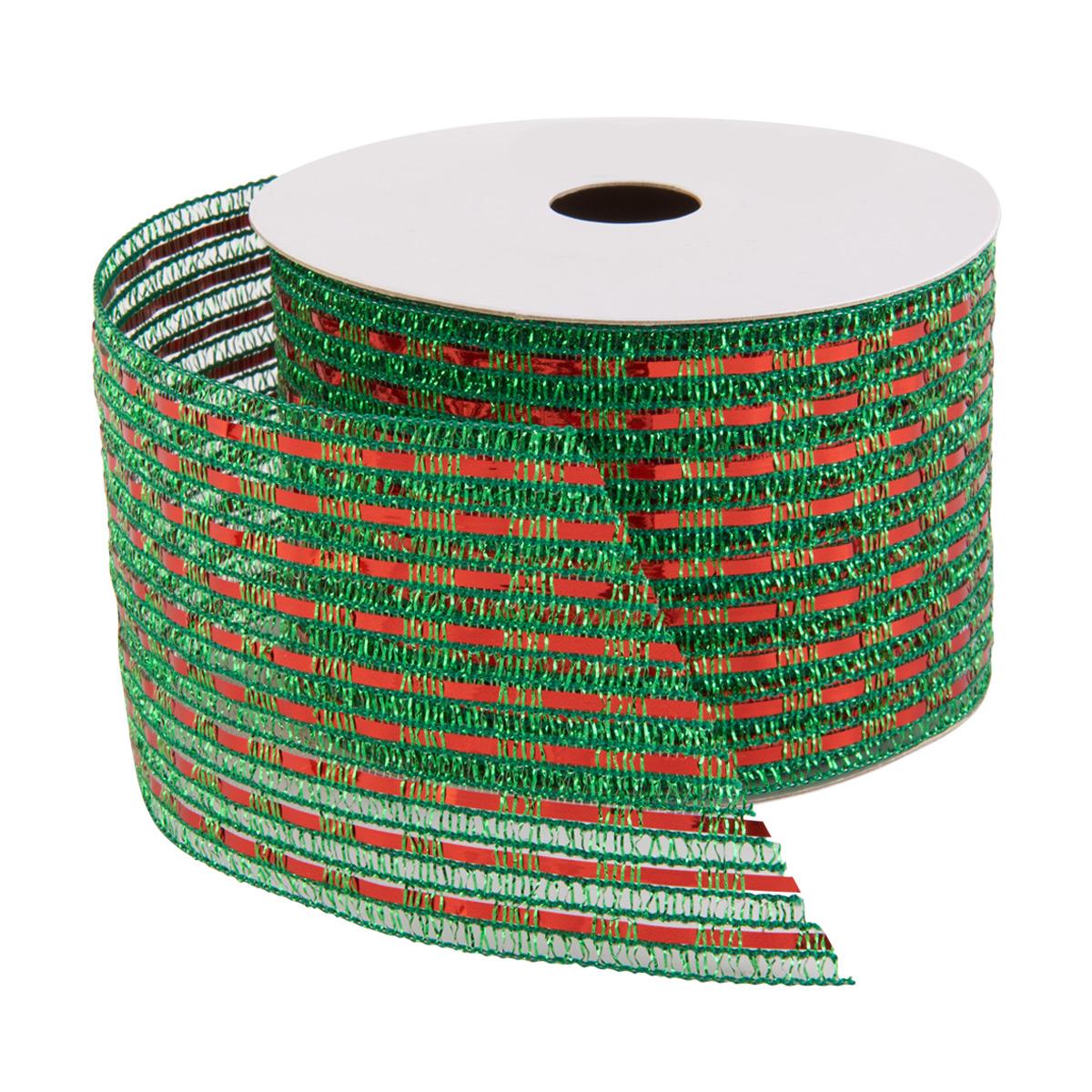Ribbon Wired Lurex Green